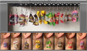 European Candy Bag Earrings. by Lightofatunnel