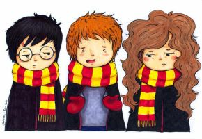 Harry, Ron and Hermione by Gohush