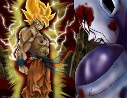 Goku vs. Frieza by Utukki-Girl