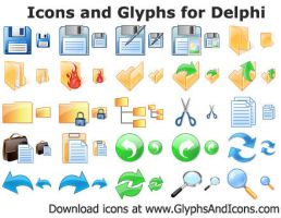Icons and Glyphs for Delphi by shockvideoee