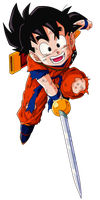 Kid Gohan Vector Render/Extraction PNG by TattyDesigns