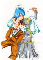Vegeta and Bulma wedding by lauretta18