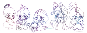 Aladdin Chibi Group Pic by pacifique