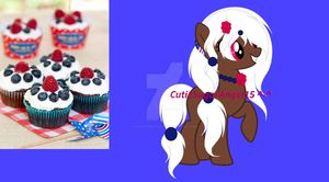 Fourth Of July Cupcake Theme Adoptable (CLOSED!) by SugariSweetLolita