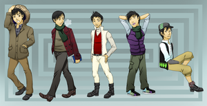 DR Osamu Winter Outfits by chiyokins