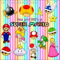 Pack PNG's de Super Mario by LauraClover