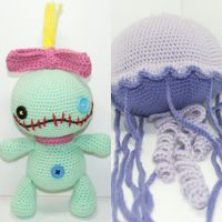 Scrump and Jellyfish by Heartstringcrochet