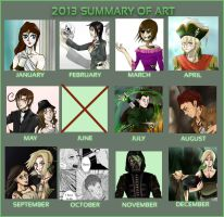 2013 Summary Of Art by all-the-lovely-death