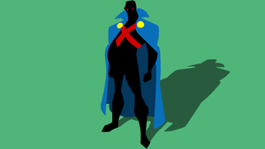 FIXED - Minimal Martian Manhunter Wallpaper by Cheetashock