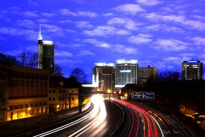 Essen Skyline at Nighttime by firefighter1993