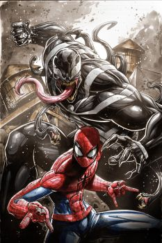 Spidey vs Venom by Vinz-el-Tabanas