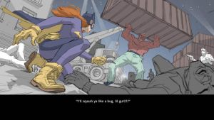 The Brick Vs Batgirl by ifesinachi
