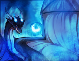 Blue Flame Dragon by KellBellz