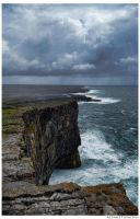 Cliffs at Dun Aengus by MJamesThompson