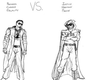 PowerMan vs. Hooded Justice