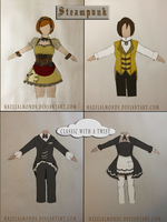 Servant Fashion Designs Set 1 and 2 by HazelAlmonds