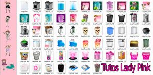 Pack de iconos de papeleras by TutosLadyPink