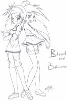 Blood and Behania- Summer Vac. by Inked-Alpha