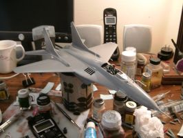Revell 1/48 MiG 29A progress 3.0 by Visual-Smut