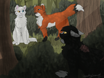 Whiteflame, Foxpounce and Nightfall by CascadingSerenity