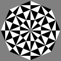 octagon black white triangles by 10binary