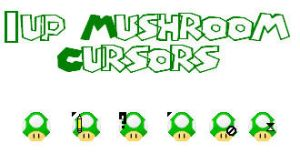 1up Mushroom Cursors by Bearded-Walrus