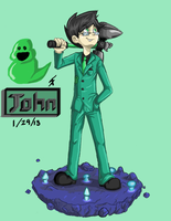 Homestuck: John by Artsenseiofdreams