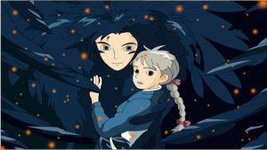 Howl and Sophie. by aruda