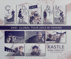 2NE1 GLOBAL TOUR IN TAIWAN NAME CARDS SET by YUWEI2304