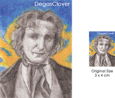Eighth Doctor - Pencil Mini portrait by DegasClover
