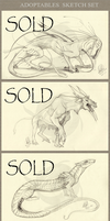 Adoptables Sketch Set - SOLD by RayEtherna