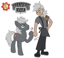Commission: Silver Dare (Pony/ Human) by Trinityinyang