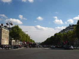 PARIS: Looking back at the Champs-Elysees by beekay84