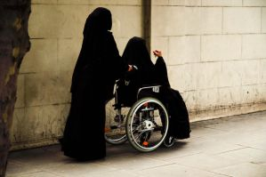 Burqa Wheelchair by NightstreetDreamer