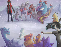 Pokemonnnnnnn Battle Commence by Miss-Cats