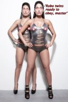 The Bella Twins Mind Controlled by Robo-Dress by messiasguardiola