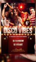 Disco Vibes Flyer Template by LordFiren