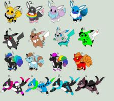 Pokemon adoptables :closed: by Arkay9