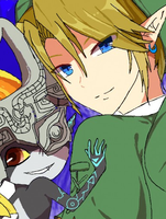 Link and Midna by ButterflyWind24