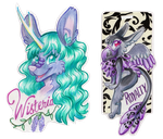 Wisteria and Royalty Badges by Mermaid-Kalo