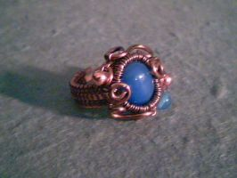 Blue Lake - Adjustable Ring by Carmabal