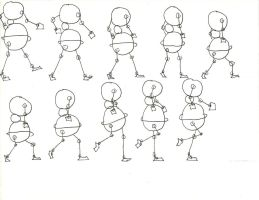 Walking Ball Sketch With Arms 2 by lilmissa103