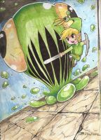 The legend of zelda minish cap by darkchapolin