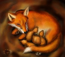 Fox mother by KekPafrany