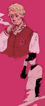 Jacket and The batter by DetroitAshtray
