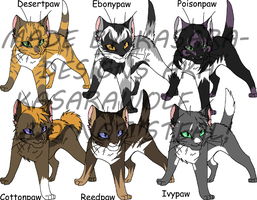 Warrior Cats- Apprentices1GONE by Kasara-Designs