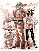 Sci-Fi meets the Old West by 93Cobra
