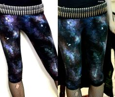 Galaxy leggings by mariedark