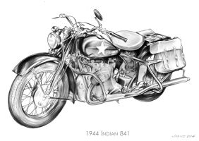 1944 Indian Motorcycle by gregchapin
