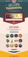 One Page PSD Vintage Portfolio by the-webdesign